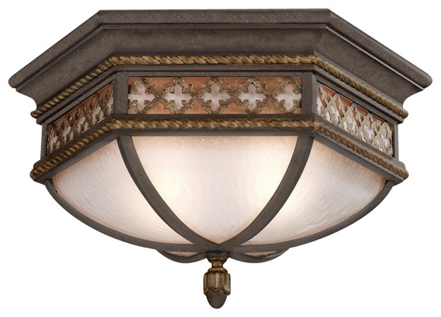 Chateau Outdoor Outdoor Flush Mount, 403082ST traditional-outdoor-flush-mount-ceiling-lighting