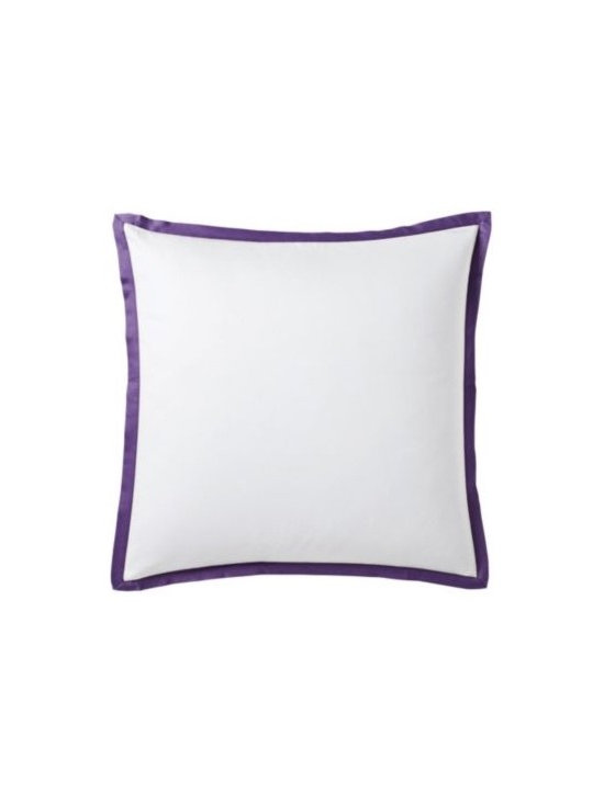 Royal Purple Border Frame Euro Sham