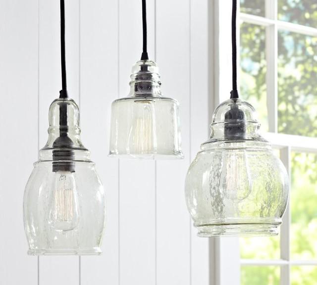 Paxton glass single pendants midcentury pendant for Traditional kitchen pendant lights