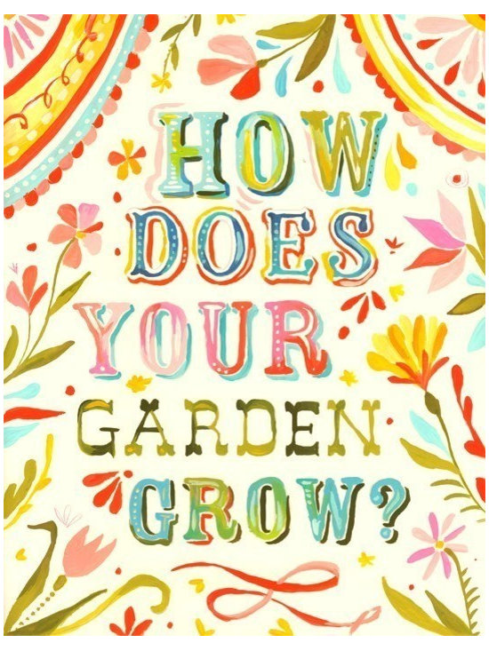 'How Does Your Garden Grow?' Vertical Print by The Wheatfield -