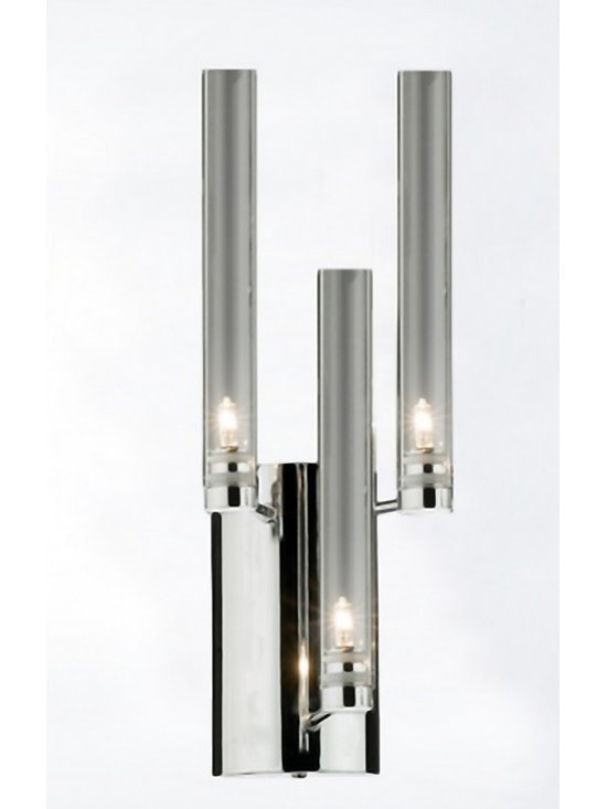 Modern Clear Glass And Chrome Wall Sconce - Modern Clear Glass And Chrome Wall Sconce
