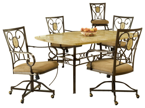 dining room set w oval back caster chairs traditional dining sets