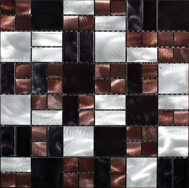 Aluminium tiles/mosaics transitional-tile