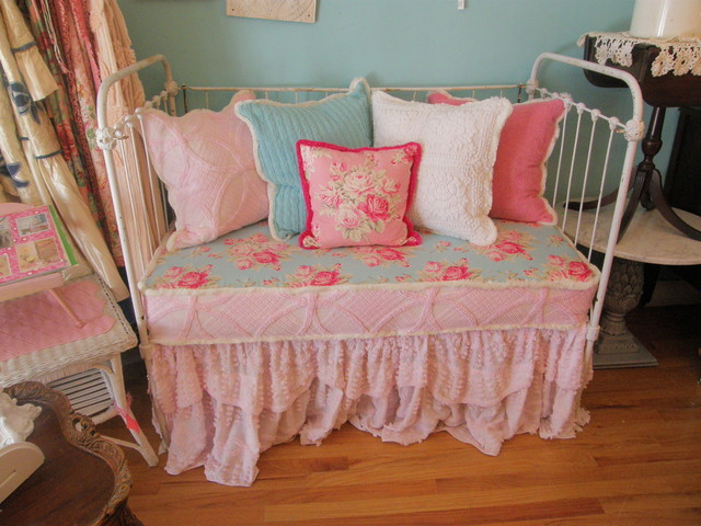vintage chenille bedspread slipcovers vintage chic furniture eclectic