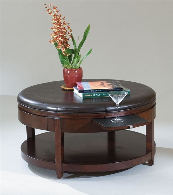 Round Cocktail Table W Casters