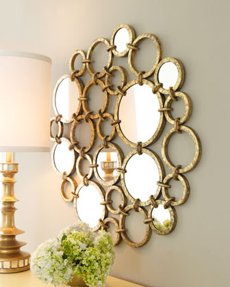 Mirrored Rings Wall Decor traditional mirrors