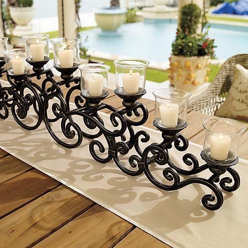 La Scala 2-pc. Tabletop Candelabrum traditional-candles-and-candleholders