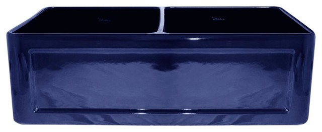 Blue Farmhouse Sink : ... Bowl Fireclay Farm Sink - Traditional - Kitchen Sinks - by Blue Bath