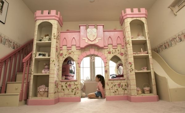 Girls Princess Loft Bed eclectic bedroom