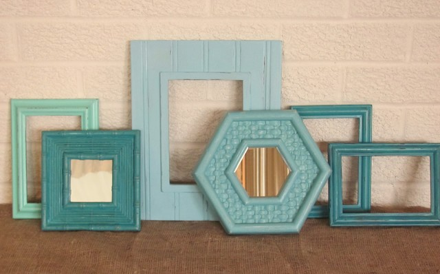 Beach Cottage Inspired Picture Frame & Mirror Collection tropical