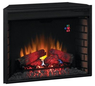 Classic flame 28 in electric fireplace insert with - Contemporary electric fireplace insert accessories ...