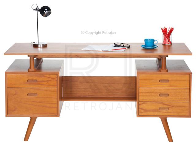 Josephine Retro Furniture Office Desk Walnut Modern