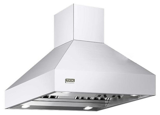 "Viking Professional Series 42"" Island Chimney Range Hood, White"