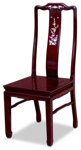 Rosewood mother of pearl inlaid chair asian dining for Oriental furniture for sale