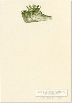 Alexa Pulitzer Green King Gator Notecards eclectic-desk-accessories