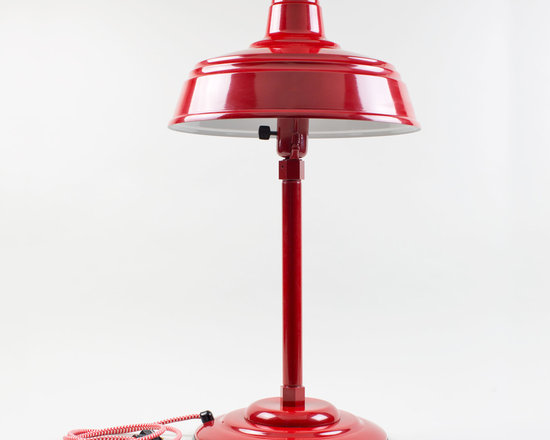 The Admiral Retro Desk Lamp - Update your table lamp lighting with our Admiral Retro Desk Lamp! This mid-century style table lamp incorporates a groovy aluminum shade and weighted table mount.