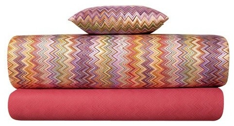 Missoni Home | John Pink Duvet Cover modern-bedding