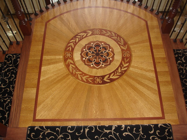 Wood Medallion With Radial Cut Boards