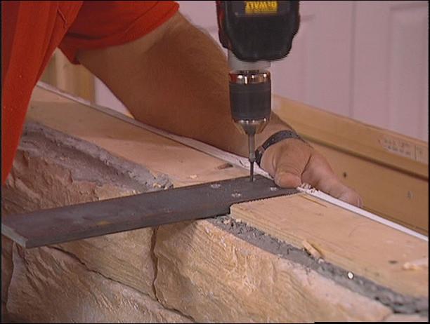 Knee wall hidden granite bracket brackets jacksonville for Knee wall support