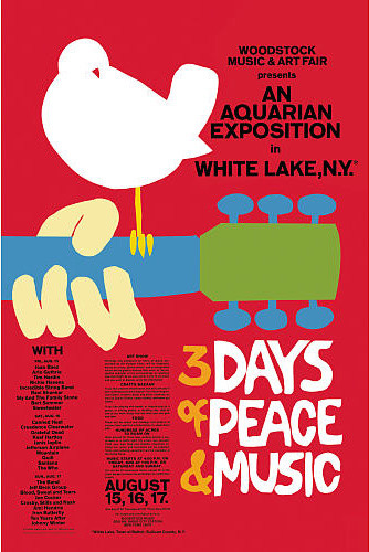 Red Woodstock Poster prints-and-posters