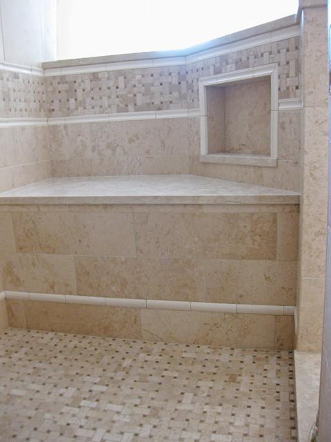 Bathroom Tile Design Niche & Bench traditional