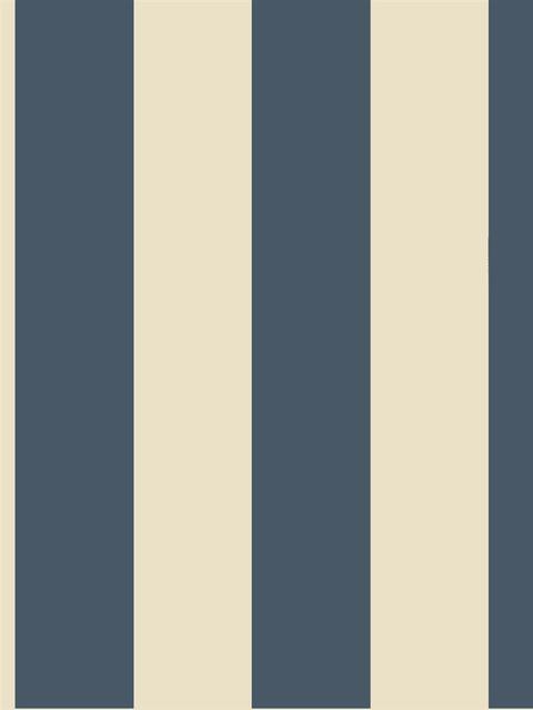 Navy nautical striped wallpaper traditional wallpaper