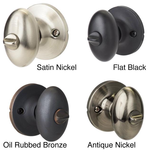 Sure-Loc Egg-shaped Privacy Door Knob Pair (2 complete sets) contemporary-door-hardware