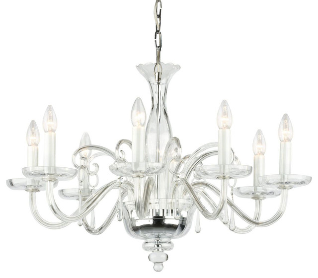 Amadeus Crystal Glass Chandelier traditional-chandeliers