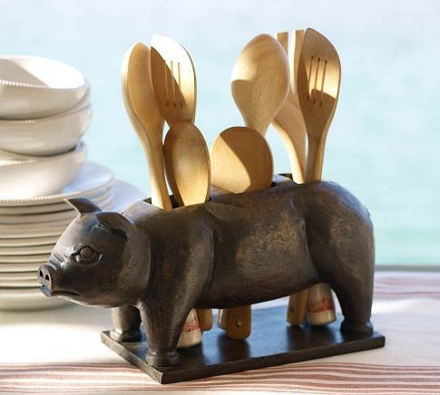 Pig Flatware Caddy eclectic flatware