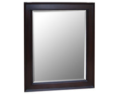 Kitchen Bath Collection 28-inch Wall Mirror (Chocolate) traditional