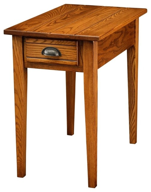 Favorite Finds Bin Pull End Table in Candlegl contemporary-side-tables-and-end-tables