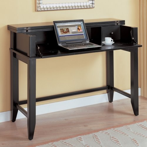 Tribeca Loft Laptop/Writing Desk in Black by Kathy Ireland contemporary-desks-and-hutches
