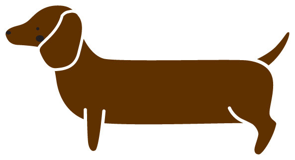 Dachshund dog stencil for painting contemporary wall stencils by my wonderful walls