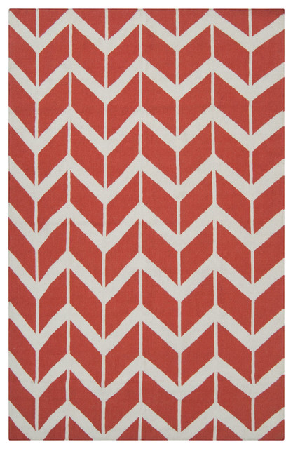 Fallon Flatweave Hand Woven Wool Rug transitional-rugs