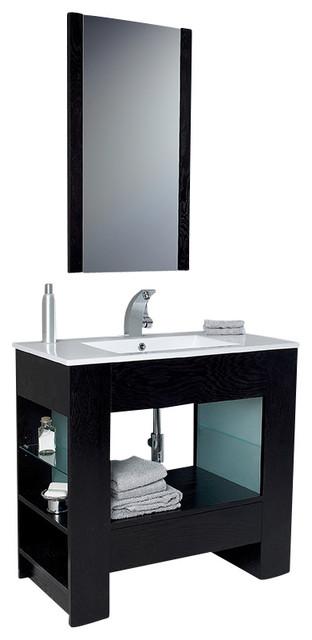 Fresca Egoista Modern Bathroom Vanity w/Venge Wood Finish modern-bathroom-vanities-and-sink-consoles