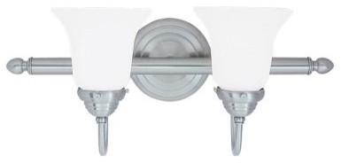Livex Prelude 1292-91 Vanity Light - Brushed Nickel - 19W in. modern bathroom lighting and vanity lighting
