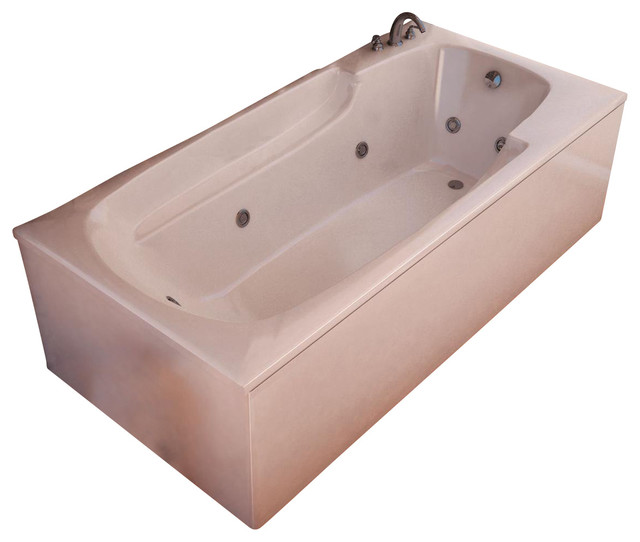 Atlantis Tubs 3260EWR Eros 32x60x23 Inch Rectangular Whirlpool Jetted Bathtub traditional-bathtubs