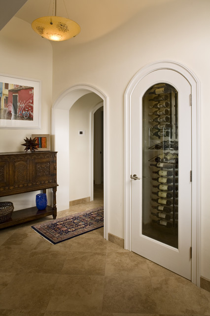 Wine Closet mediterranean kitchen