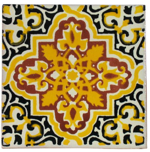 Yellow Talavera Tiles, Box of 15 mediterranean-tile