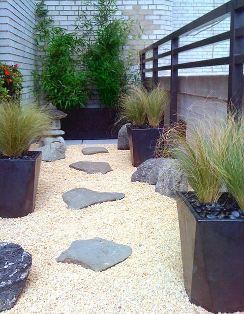 Manhattan Roof Garden Terrace Deck Container Plants Zen