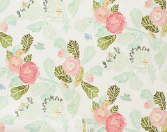 Watercolor Peony Wallpaper contemporary-wallpaper