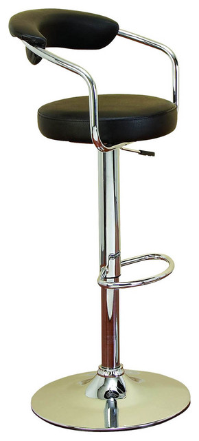 """Uptown 43"""" Chrome Adjustable Height Swivel Bar Stool Chair modern-bar-stools-and-counter-stools"""