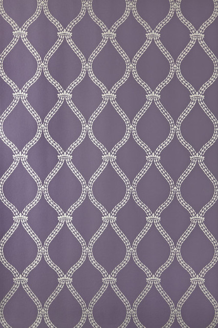 Farrow & Ball - Crivelli Trellis Wallpaper traditional-wallpaper