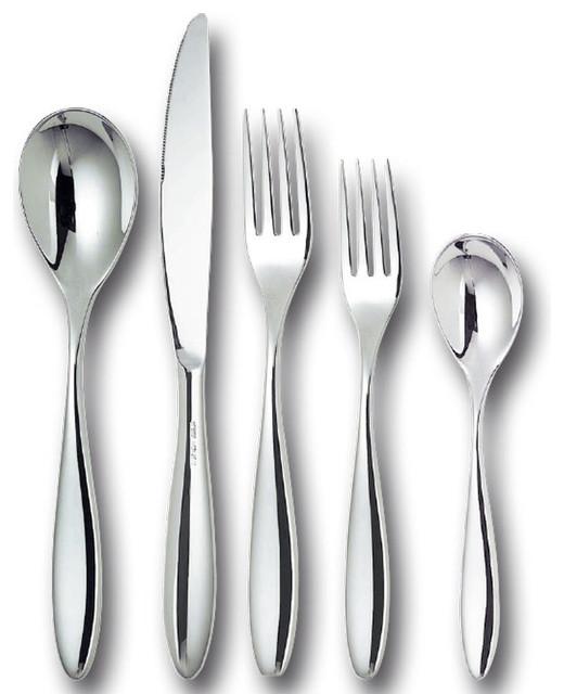 Alessi flatware mami cutlery set sale 35 piece modern flatware and silverware sets by - Alessi flatware sale ...