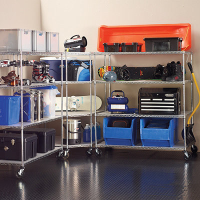 Oversize Garage Storage Shelving - Contemporary - Utility Shelves - by FRONTGATE