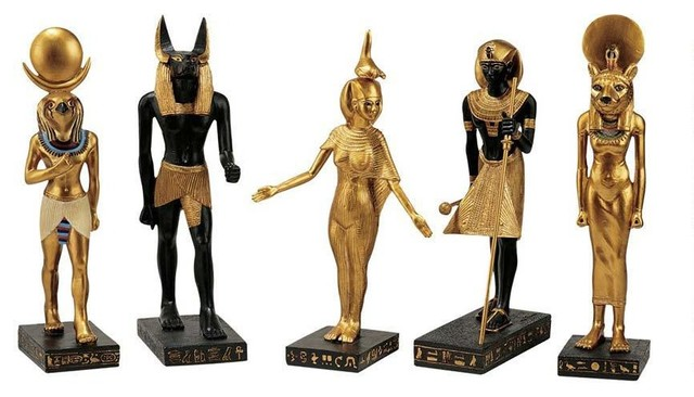 Ancient Egyptian Collection Statue Of Horus Anubis Serqet