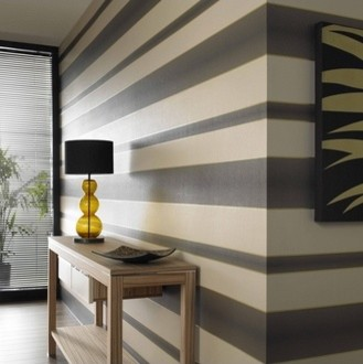 Graham & Brown - Verve Stripe Wallpaper modern wallpaper