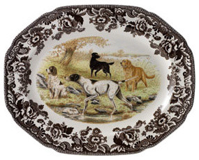 Woodland Dog Platter traditional-serving-dishes-and-platters
