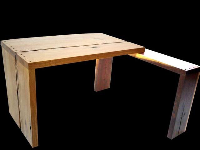 Oak Walnut Desk #2 eclectic-furniture