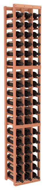 3 Column Standard Wine Cellar Kit in Redwood, Satin Finish contemporary-wine-racks